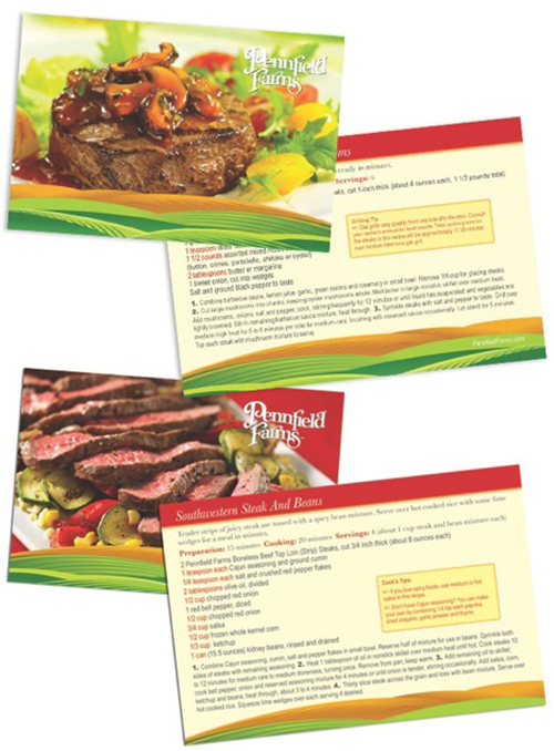 Pennfield Farms POS Recipe Cards